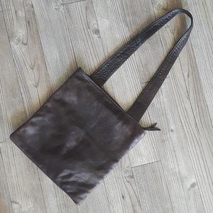 SVEN vintage boho leather tote.